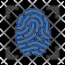 Biometric Security Thumbprint Icon