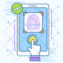 Biometric Verification Fingerprint Scanner Biometric Authentication Icon
