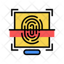 Fingerprint Access Color Icon