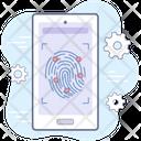 Fingerprint Scanner Cyber Security Icon