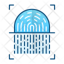 Fingerprint Scanner Security Icon
