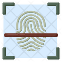 Fingerprint Scanning Thumb Verification Biometric Attendance Icon