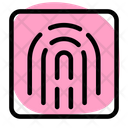 Fingerprint Scanning Biometric Fingerprint Icon