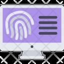Fingerprint Search Icon