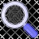 Fingerprint Analysis Fingerprint Search Biometric Search Icon