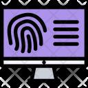 Fingerprint Search Law Icon
