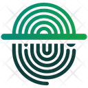 Fingerprint Security Protection Verification Icon