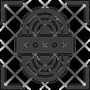 Thumbprint Unlocked Computer Icon