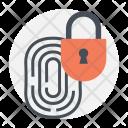 Fingerprint Unlock Identity Icon