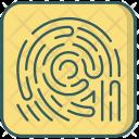 Fingerprintl Security Biometric Icon