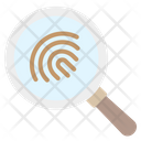Fingerprints Crime Investigation Icon