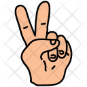 Two Fingers Hand Icon