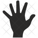 Five Fingers Hand Icon
