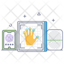 Fingers Scanning Icon