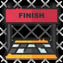 Finish Line End Line Final Line Icon