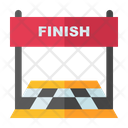 Finish Line End Line Final Line Icon