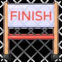 Finish Line Race Line Finish Point Icon