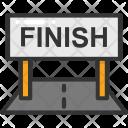 Crossing Finish Race Icon