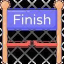 Finishing Straight Finishing Line Ending Point Icon