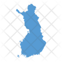 Finland Map Country Icon