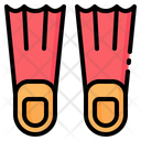 Fins Flippers Dive Icon