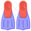 Flippers Fins Diving Flippers Icon