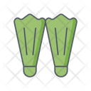 Fins Flippers Diving Icon