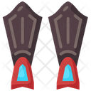 Fins Flippers Holiday Icon