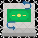 Fintech Money Transfer Banking Icon