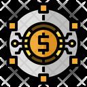 Fintech Data Financial Technology Connection Icon