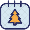 Fir Calendar Fir Tree Icon
