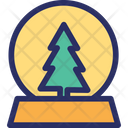 Fir Tree Christmas Snowglobe Decoration Icon