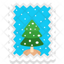 Fir Tree Ticket Palm Icon