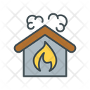 Burn Home Burn House Accident Icon