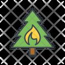 Fire Burning Tree Danger Icon