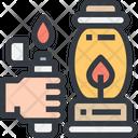 Fire Lantern Bulb Icon