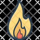 Fire Hot Burn Icon