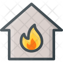 Fire Apartment House Icon