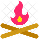 Summer Fire Wood Icon