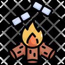 Fire Marshmallow Burn Icon