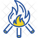 Fire Warm Camping Icon