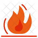 Flame Hot Combustion Icon