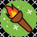 Fire Torch Stick Icon