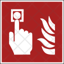 Fire Safety Button Icon
