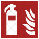 Fire Safety Extintor Icon