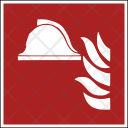 Fire Safety Helmet Icon