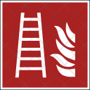 Fire Safety Stairs Icon