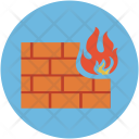 Fire Wall Safety Icon