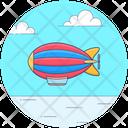 Fire Airship Zeppelin Propelling Ballon Icon