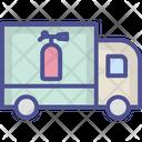 Fire Brigade Vehicle Transport Icon